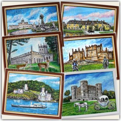 Пейзажи от Англия - Оригинални Рисунки върху Платно