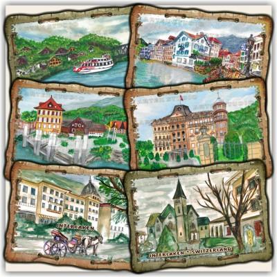 Стенни сувенири: Интерлакен, швейцария